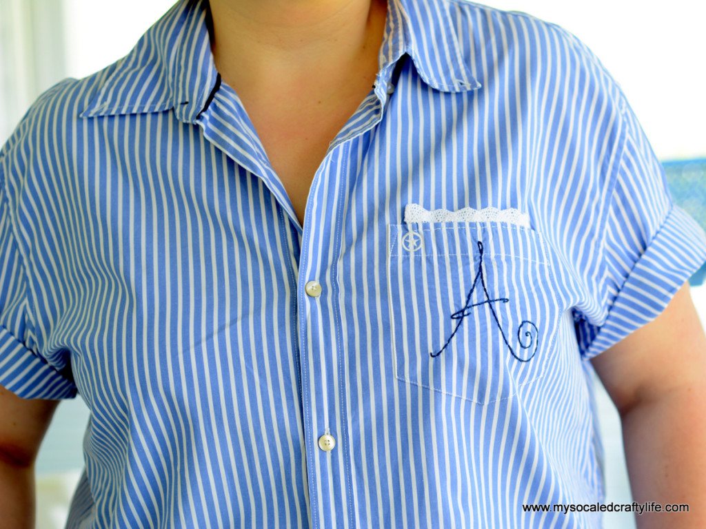 2 DSC 3249 1024x768 Vintage Crafts  Retro Style Upcycled Mens Shirt