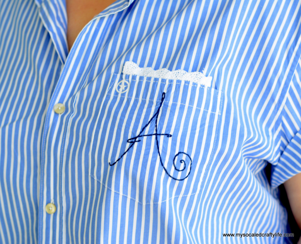 3 DSC 3248 1024x831 Vintage Crafts  Retro Style Upcycled Mens Shirt