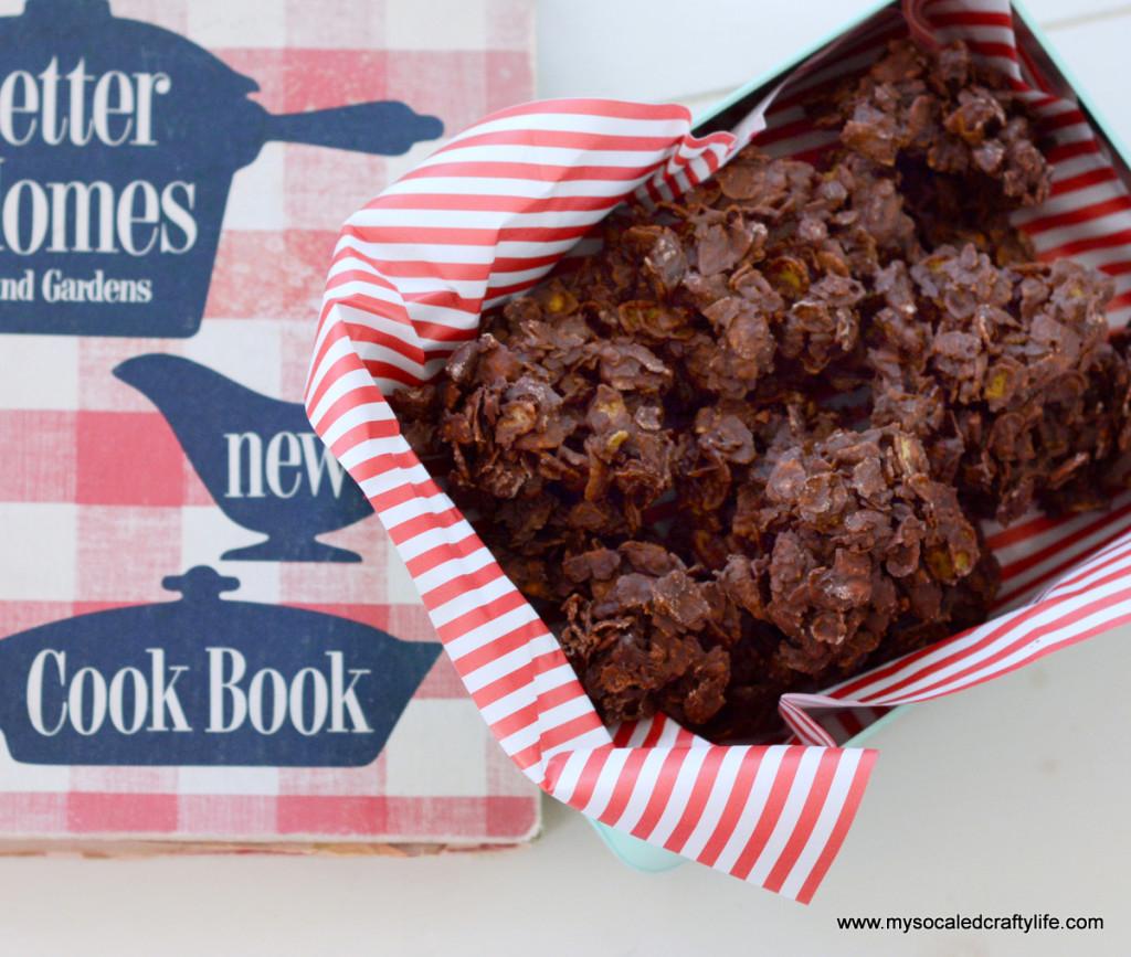 4 DSC 3336 1024x867 Vintage Recipe Reviews  Chocolate Delight Drop Cookies