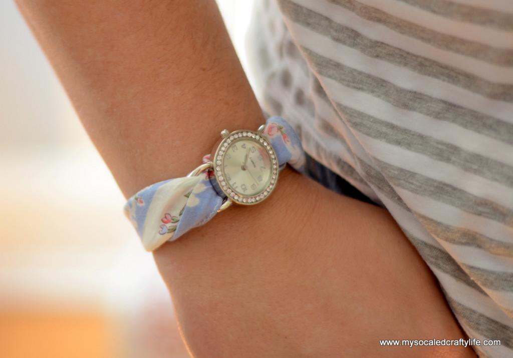 1 DSC 3373 1024x715 Five Minute DIY Vintage Hanky Watch