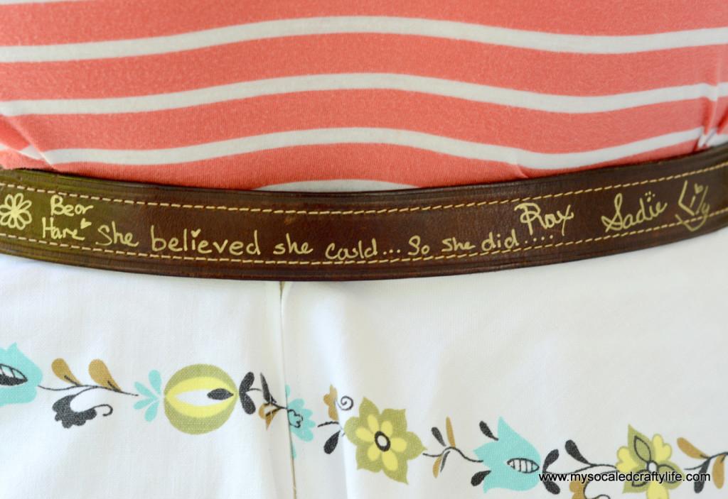 3 DSC 3762 1024x703 Vintage Crafts  Autographed Belt