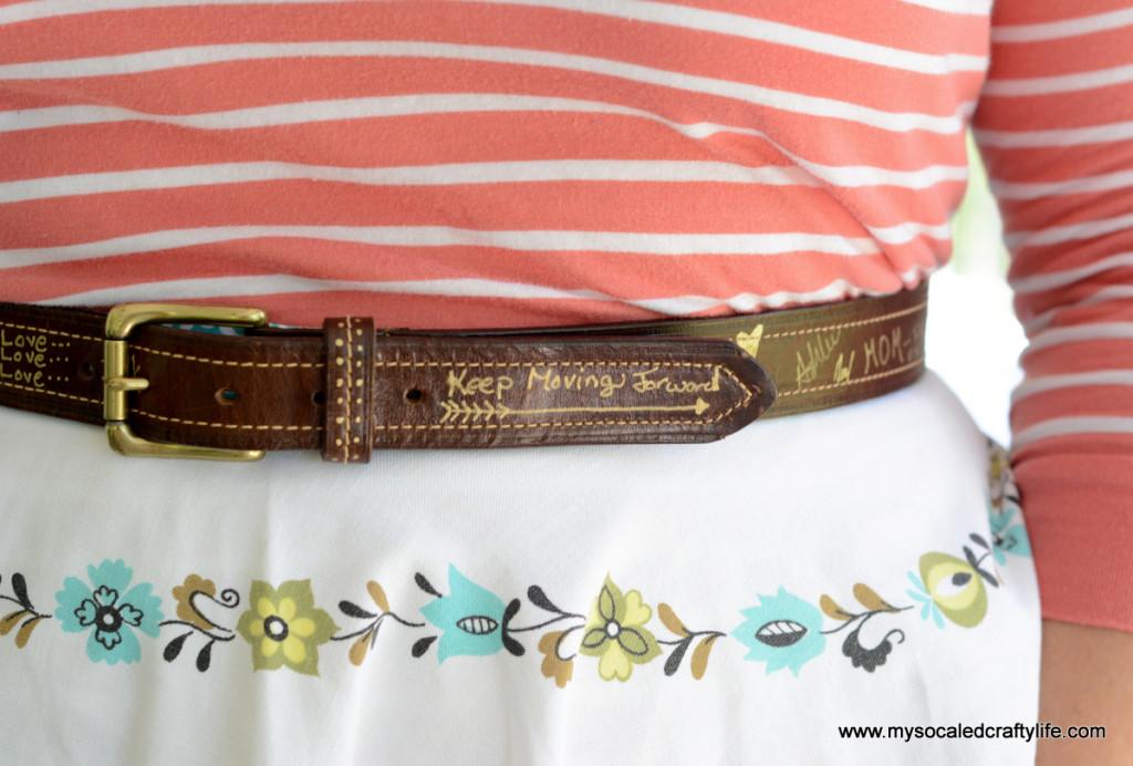 4 DSC 3758 1024x692 Vintage Crafts  Autographed Belt