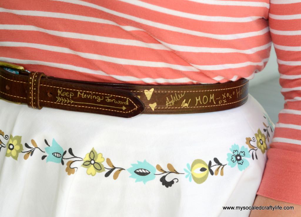 5 DSC 3756 1024x738 Vintage Crafts  Autographed Belt
