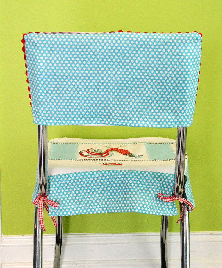 01 DSC 4479 DIY Custom Chair Seat Covers with A Vintage Tablecloth