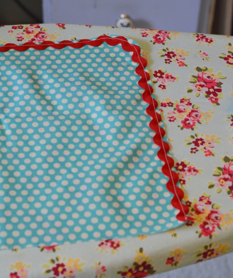 18 DSC 3635 DIY Custom Chair Seat Covers with A Vintage Tablecloth