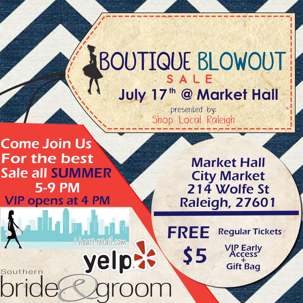 Boutique Blowout 2015 Instagram - facebook free admission