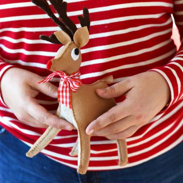 DIY Vintage Reindeer Toy Plush