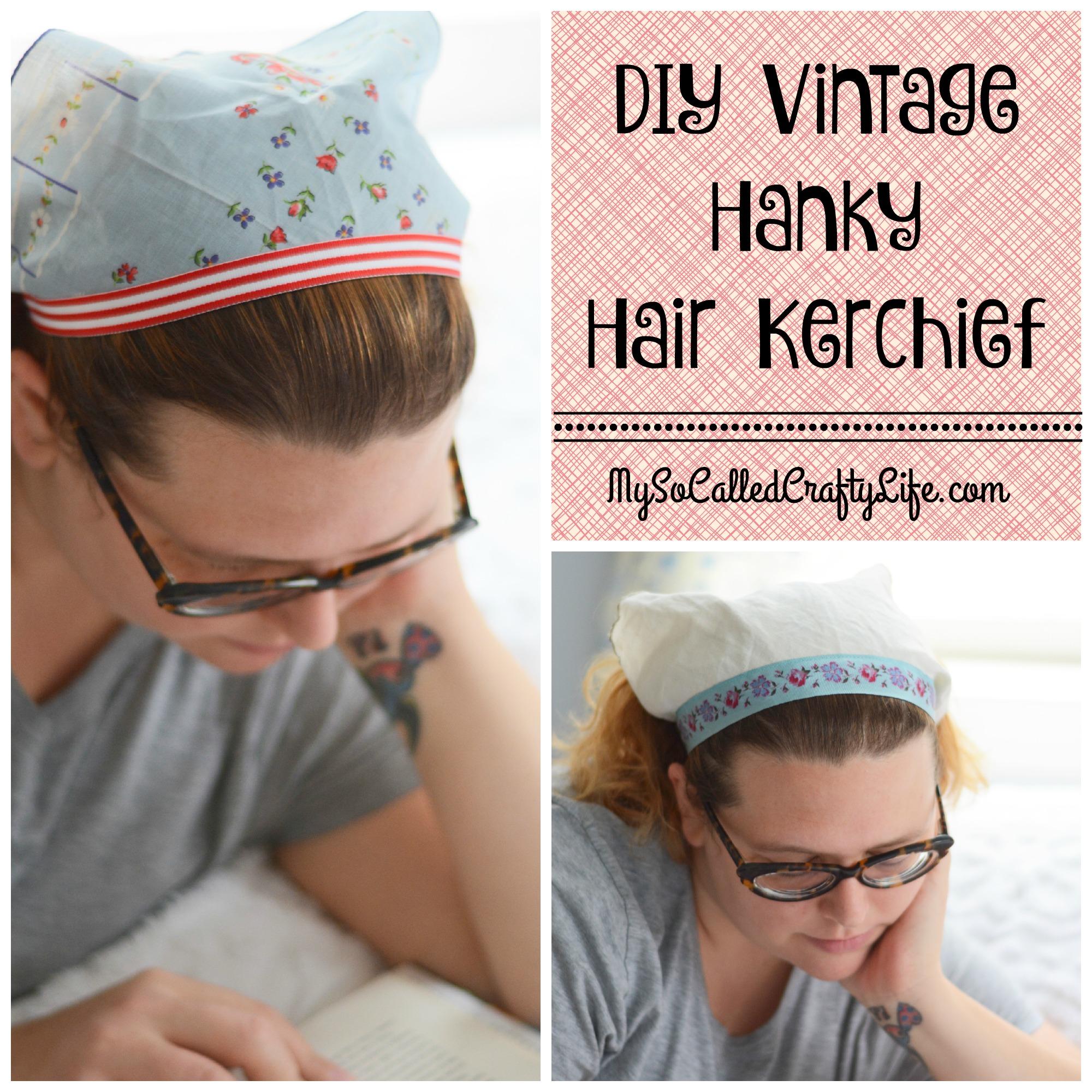 Kitschmas Gifts- DIY Vintage Hanky Hair Kerchief - My So Called ... 54a516cd063